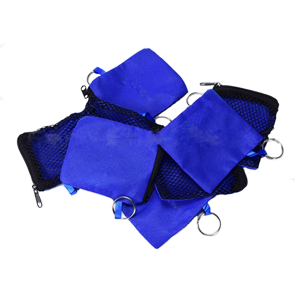 Ear Buds in Zip Pouch /Nylon Headset Bag