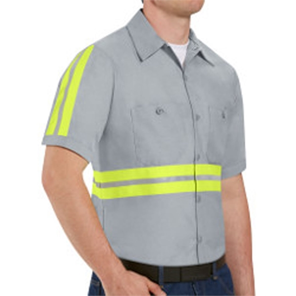 Red Kap Enhanced Visibility Industrial Work Shirt Long Sizes