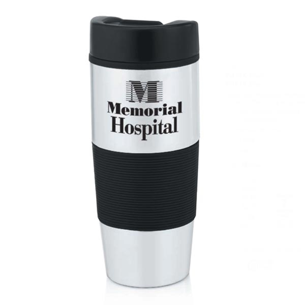 Stainless Steel Color Grip Travel Tumbler