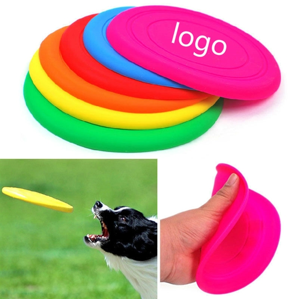 Soft Pet Dog Natural Rubber Silicone Flying Disc Flyer