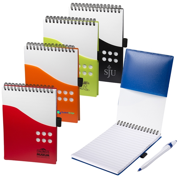 Two-Tone Jotter with Contour Pen