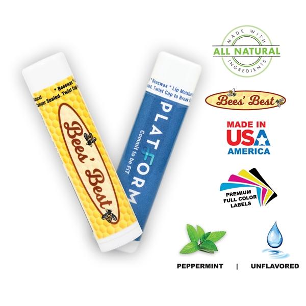 Bee-Licious Beeswax Natural Peppermint Lip Balm (No SPF)