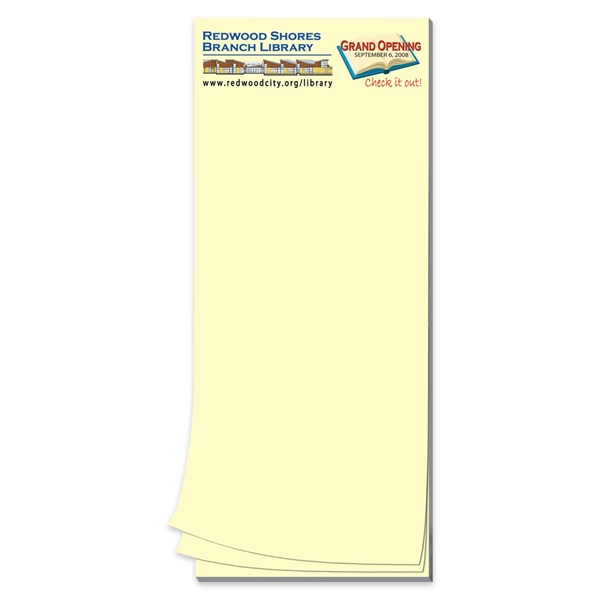 Paper Note Pad 3 1/2 x 8 1/2, 25 pages 4CP
