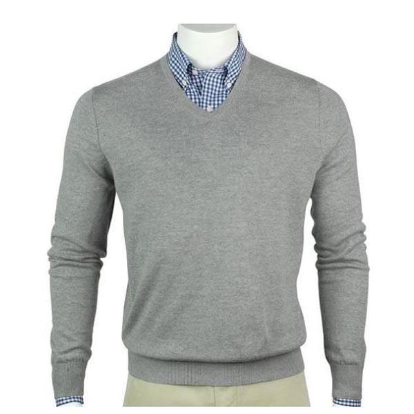 Fairway & Greene Men's Merino Long Sleeve V-Neck Sweater
