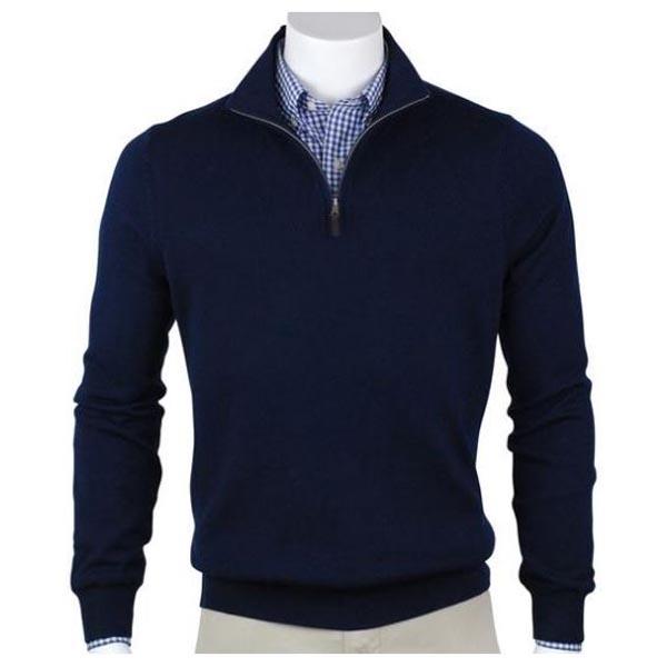 Fairway & Greene Men's Merino Quarter-Zip Windsweater
