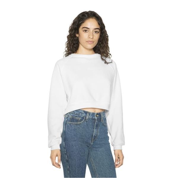 American Apparel Women's Flex Fleece Raglan Crop Sweatshirt