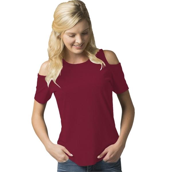 Boxercraft Women's Cold Shoulder T-Shirt