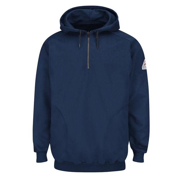 Bulwark Pullover Hooded Fleece Sweatshirt Quarter-Zip