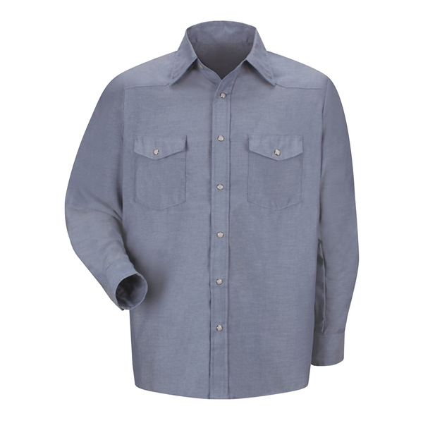 Red Kap Deluxe Western Style Long Sleeve Shirt Long Sizes