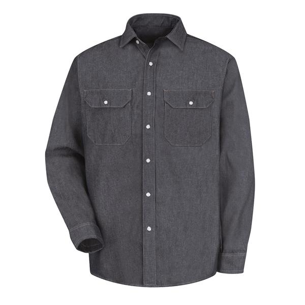 Red Kap Deluxe Denim Long Sleeve Shirt Long Sizes