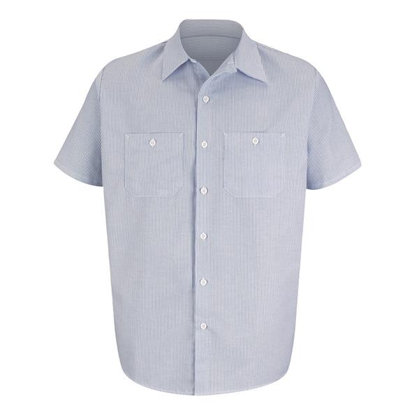 Red Kap Industrial Stripe Work Shirt Lon