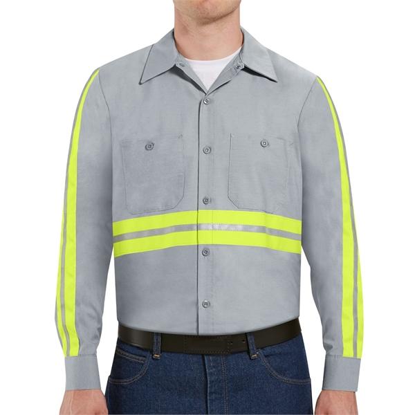 Red Kap Industrial Enhanced-Visibility Long Sleeve Work S...