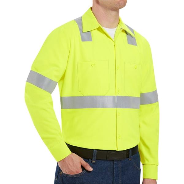 Red Kap High Visibility Work Shirt Tall Sizes