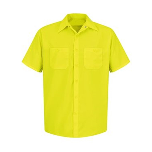 Red Kap Enhanced Visibility Short Sleeve Work Shirt Tall ...