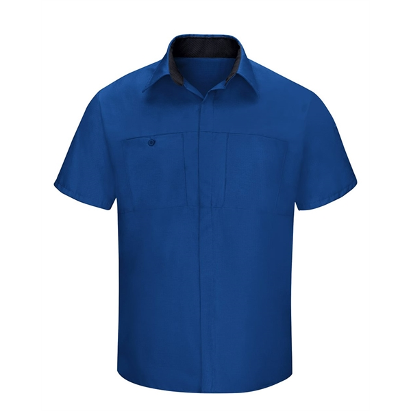 Red Kap Performance Plus Short Sleeve Shop Shirt with Oil...