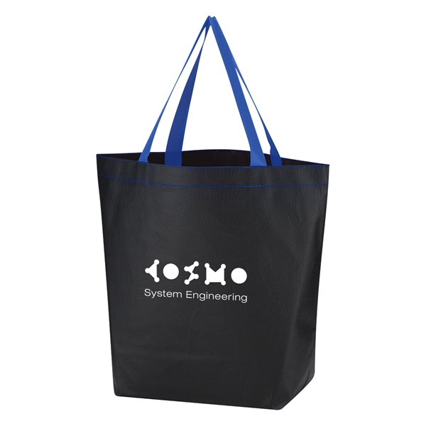 Non-Woven Leather-Look Tote Bag