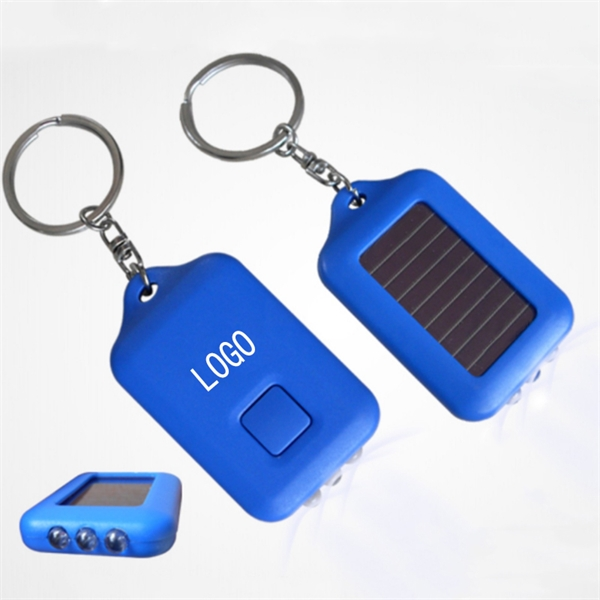 Solar Power Pocket LED Flashlight Key Chain