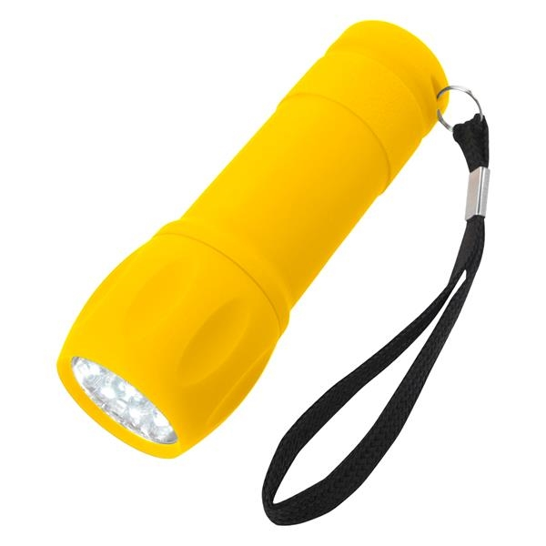 Rubberized Torch Light with Strap