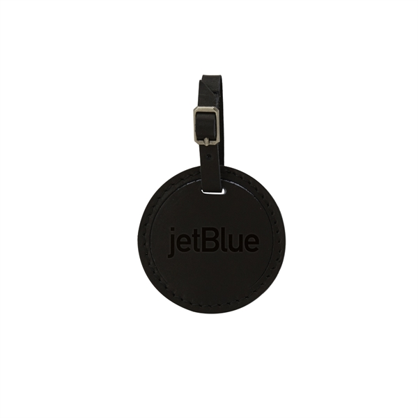 CULVER Round Leather Luggage Tag