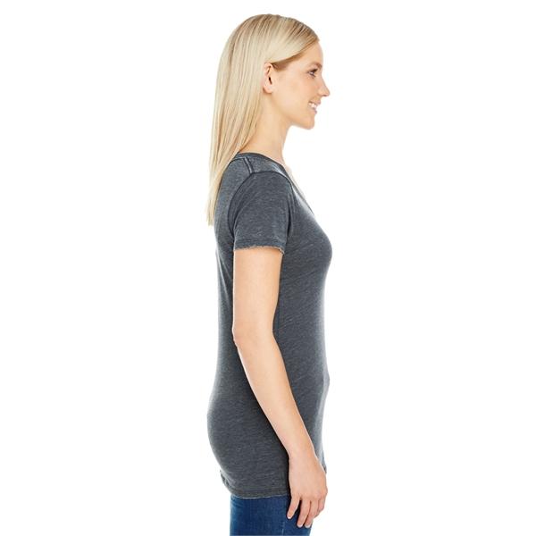 Threadfast Apparel Ladies' Vintage Dye Short-Sleeve V-Nec...