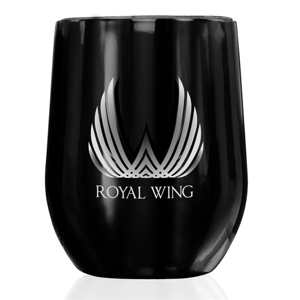 11 oz Stemless Wine Glass with Lid