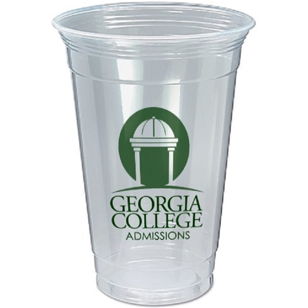 20 oz. Soft Sided Clear Plastic Cup