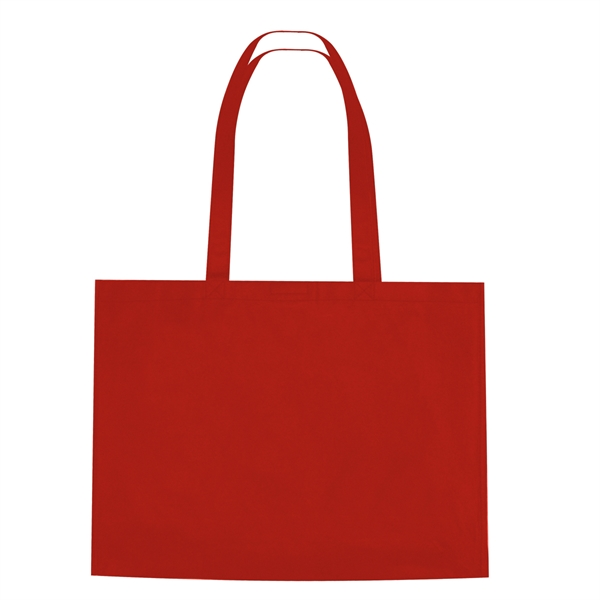 Non-Woven Shopper Tote Bag With Hook And Loop Closure
