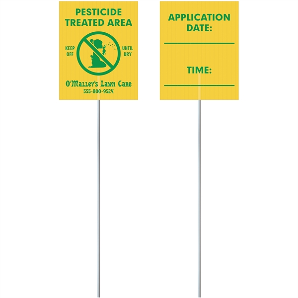 Corrugated Value Posting Signs - Two Sid