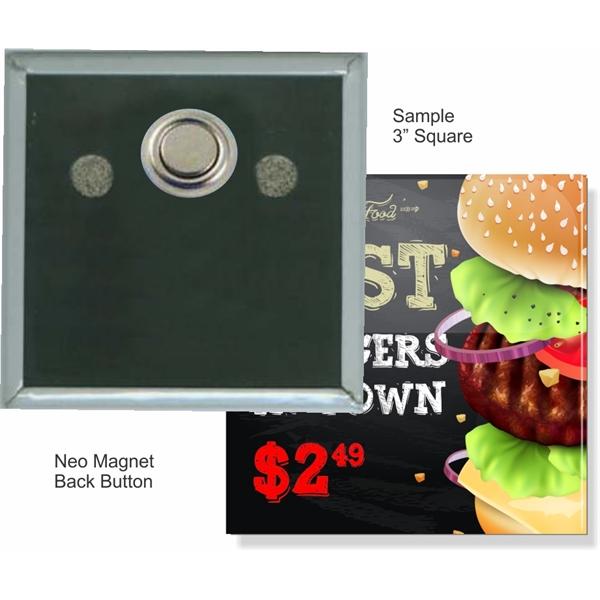 Neo Magnet 3 Inch Square Button