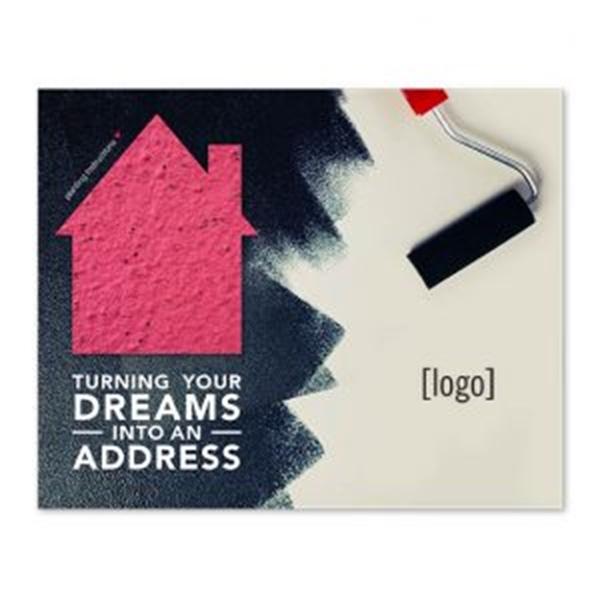 Real Estate Seed Paper Shape Postcard