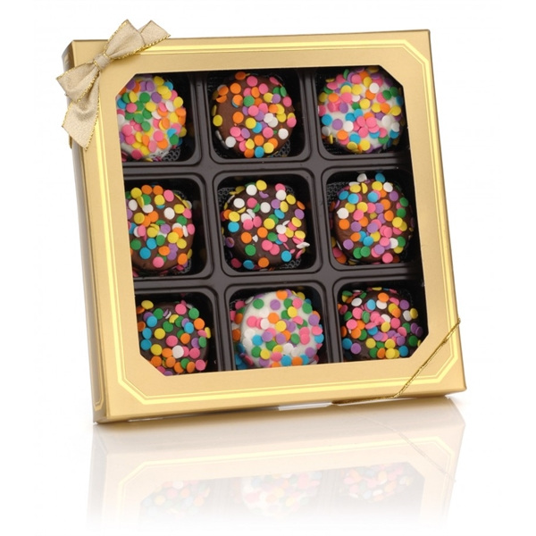 Confetti Chocolate Dipped Oreos, Box of 9