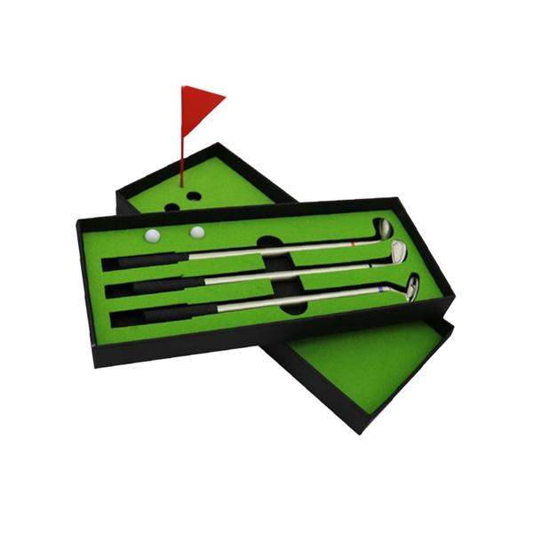Golf Gift Set with 3 Pcs Ballpoint Pen
