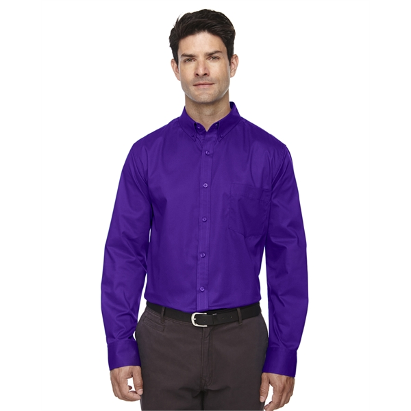 Core365 Men's Operate Long-Sleeve Twill Shirt