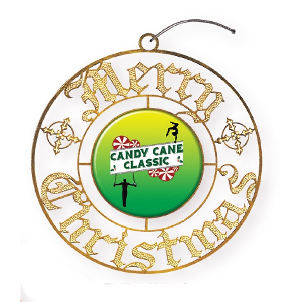 Express Merry Christmas Holiday Ornament