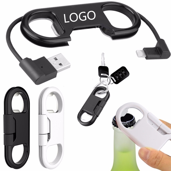 Opener Keychain USB Charge Cord Cable
