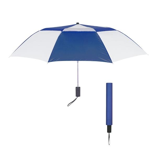 """44"""" Arc Telescopic Folding Vented Umbrella"""