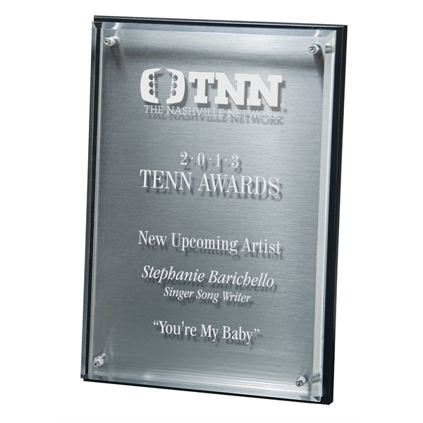 Hi-Tech Lucite Riser Plaque with Wood Backing and Plate