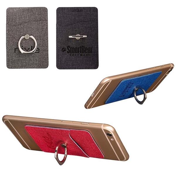 LEEMAN™ RFID Phone Pocket + Ring Stand