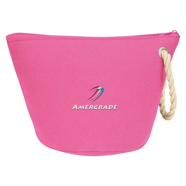 Cosmetic Bag With Rope Strap