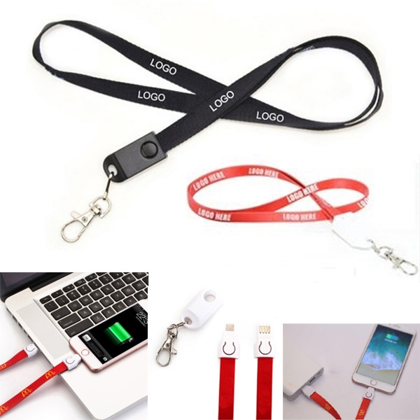 2 In 1 Lanyard Charging Cable