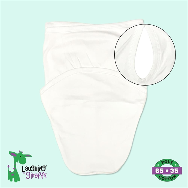 Baby Swaddle Blanket White- Laughing Giraffe®