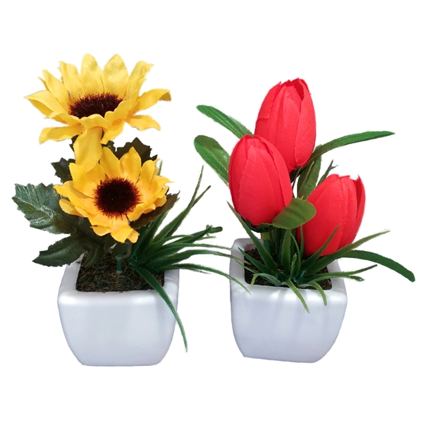 Plastic Potted Flowers