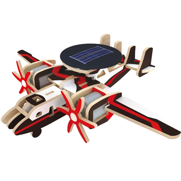 3D Wooden Puzzle Solar Energy Airplane