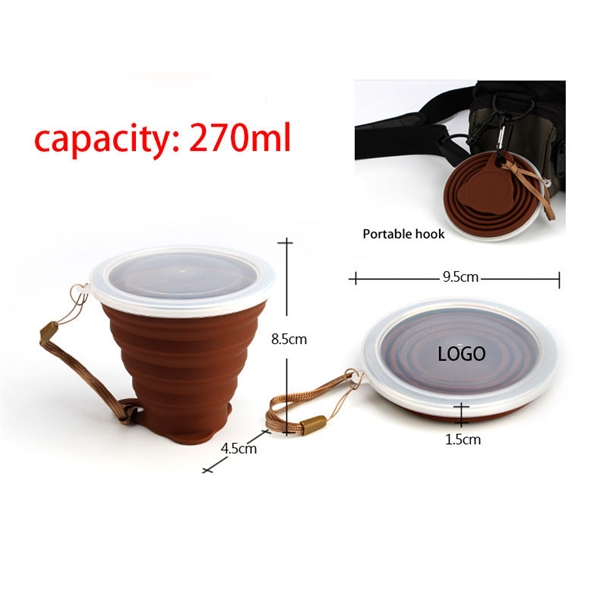 Silicone telescopic water cup
