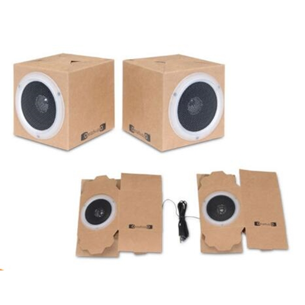 Foldable Paper Speaker with Audio Line