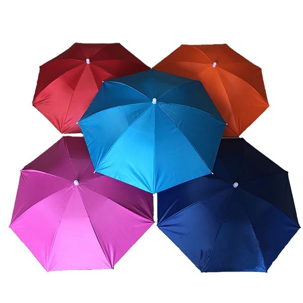 Large Colorful Polyester Summer Fishin Umbrella Hat