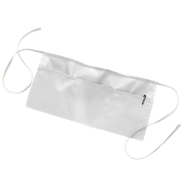 Q-Tees™ White Waist Apron with Pockets