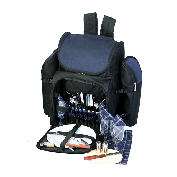 Tandoor Four Person Picnic Backpack Set