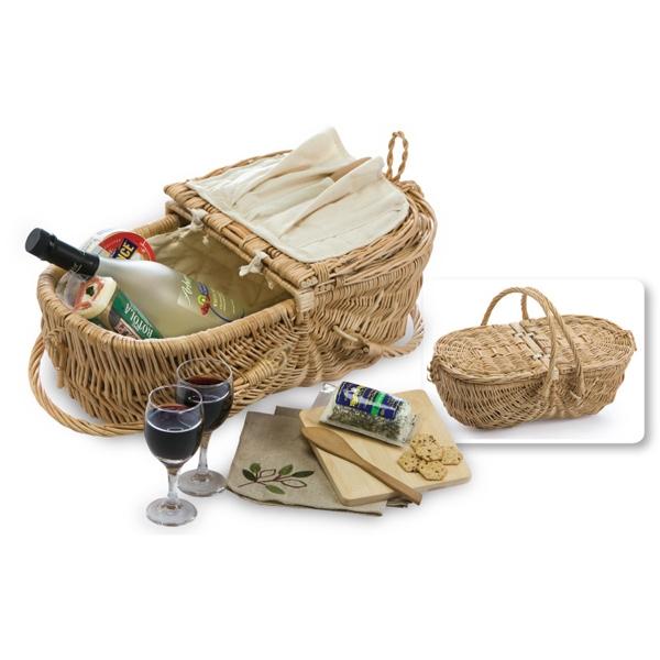 Eco Wine & Cheese Basket