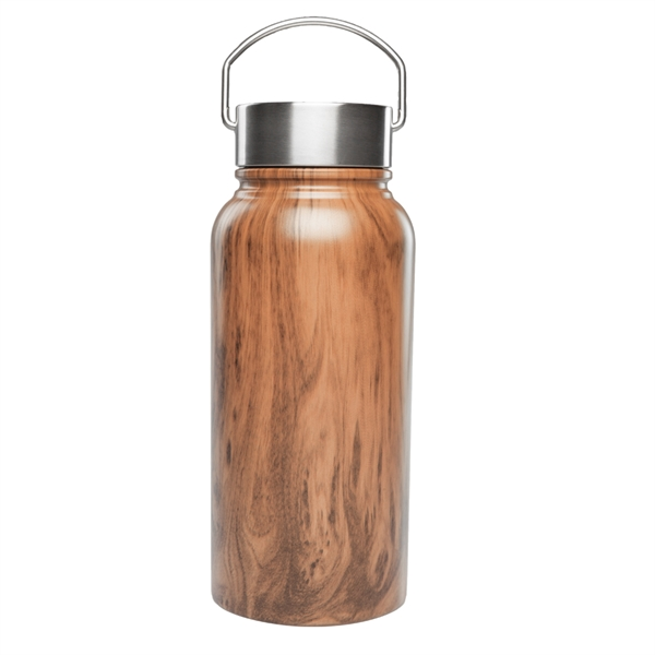 30 oz. Large Wood Coated Stainless Steel Water Bottles